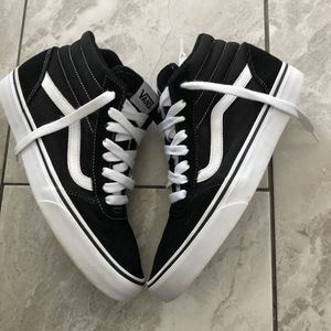 Vans Shoes - VANS HIGH BLACK AND WHITE SNEAKERS